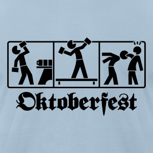 Oktoberfest Munich pictogram T-Shirts - Men's T-Shirt by American Apparel