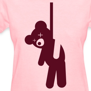 Hanged Teddy Bear Women's T-Shirts - Women's T-Shirt