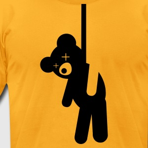 Hanged Teddy Bear T-Shirts - Men's T-Shirt by American Apparel
