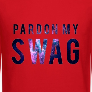 PARDON MY SWAG Long Sleeve Shirts - Crewneck Sweatshirt