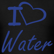 Design ~ I Heart Water Men's T