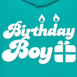 Birthday boy new with present Zip Hoodies/Jackets - Unisex Fleece Zip Hoodie by American Apparel