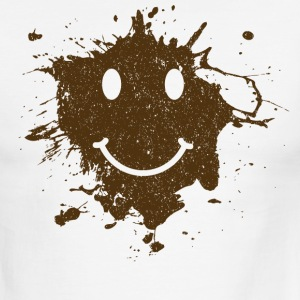 Mud Smiley Face Ringer - Men's Ringer T-Shirt
