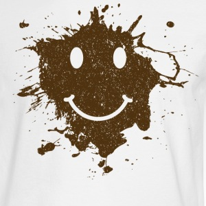 Mud Smiley Face Long Sleeve Tee - Men's Long Sleeve T-Shirt