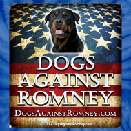Design ~ Official Dogs Against Romney Rottweiler Tie Dye Tee