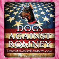 Design ~ Official Dogs Against Romney Doberman Tie Dye Tee