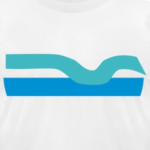 wave - Men's T-Shirt by American Apparel