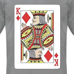 King of diamonds. T-Shirts - Men's T-Shirt by American Apparel