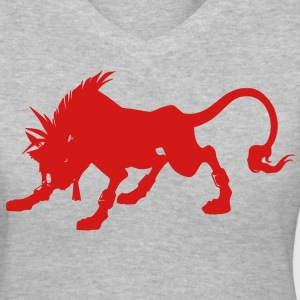 Final Fanyasy VII - Red XIII T-Shirts - Women's V-Neck T-Shirt