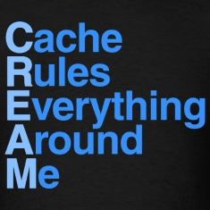 Cache Rules Everything Around Me CREAM T-Shirt