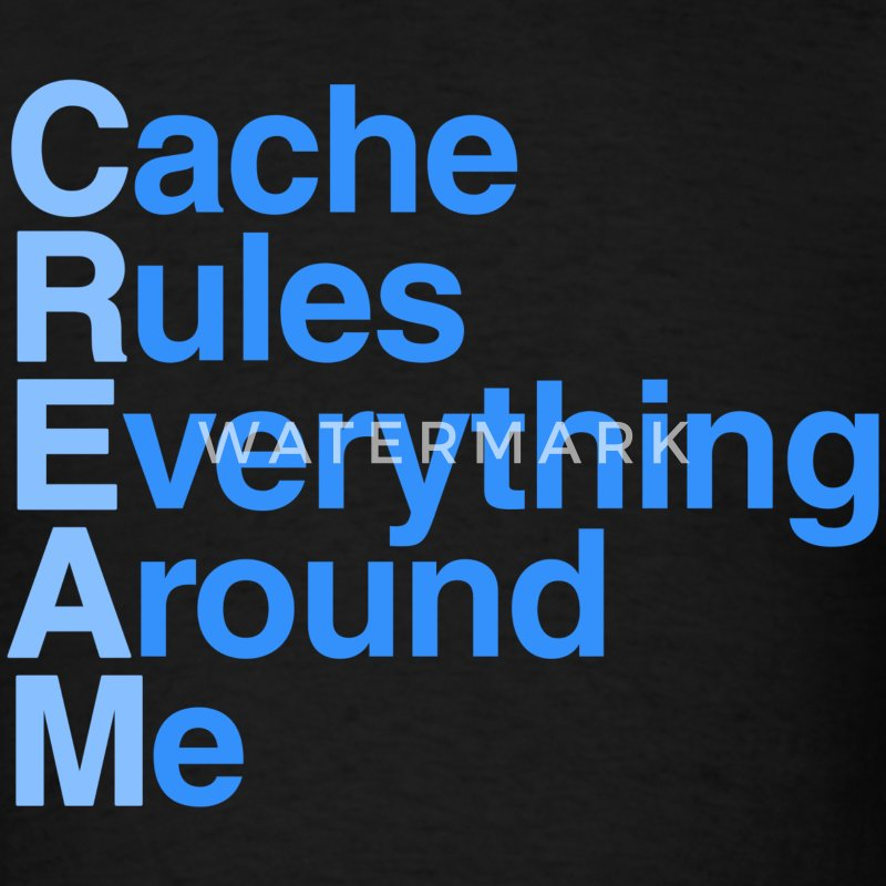 Cache Rules Everything Around Me CREAM T-Shirt - Men's T-Shirt
