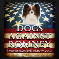 Design ~ Official Dogs Against Romney Cocker Papillion Tee