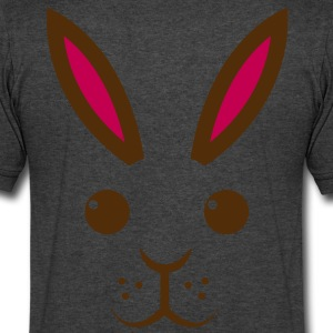 simple easter bunny rabbit ears T-Shirts - Men's V-Neck T-Shirt by Canvas