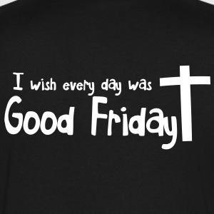 EASTER I wish everyday was GOOD FRIDAY with a cross T-Shirts - Men's V-Neck T-Shirt by Canvas
