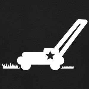 LAWN mower cutting grass with a star T-Shirts - Men's V-Neck T-Shirt by Canvas