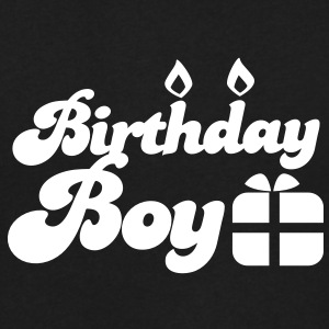 Birthday boy new with present T-Shirts - Men's V-Neck T-Shirt by Canvas