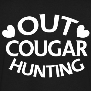 OUT COUGAR HUNTING T-Shirts - Men's V-Neck T-Shirt by Canvas