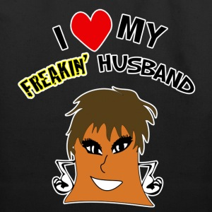 I Love My freakin Wife/Husband Tote Bag - Eco-Friendly Cotton Tote