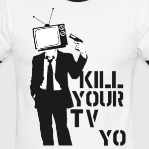 Kill Your Tv - Men's Ringer T-Shirt
