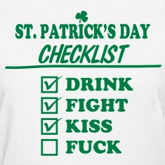 Goon - St. Patrick's Day Checklist (Dirty) - Women's