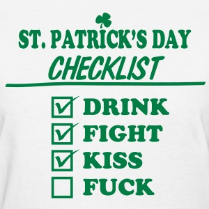 Goon - St. Patrick's Day Checklist (Dirty) - Women's - Women's T-Shirt