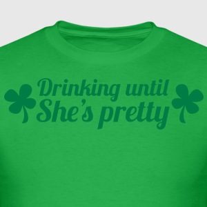 IRISH drinking until She's pretty T-Shirts - Men's T-Shirt