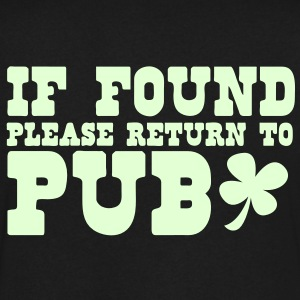 If found please return to PUB! bar  T-Shirts - Men's V-Neck T-Shirt by Canvas