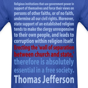 Thomas Jefferson quote t-shirt - Men's T-Shirt