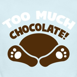 TOO MUCH CHOCOLATE fainted easter bunny! with his feet showing Baby Bodysuits - Short Sleeve Baby Bodysuit
