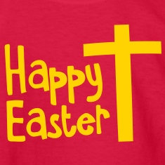 Happy EASTER with a Christian cross Kids' Shirts