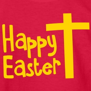 Happy EASTER with a Christian cross Kids' Shirts - Kids' Long Sleeve T-Shirt