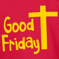 EASTER good friday with a Christian Cross Kids' Shirts
