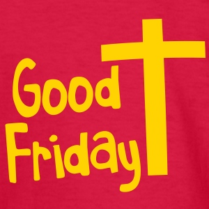 EASTER good friday with a Christian Cross Kids' Shirts - Kids' Long Sleeve T-Shirt