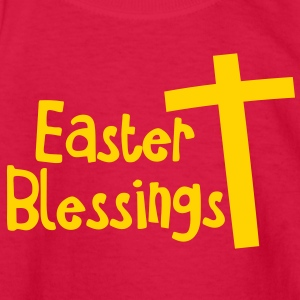EASTER blessings with a Christian cross Kids' Shirts - Kids' Long Sleeve T-Shirt