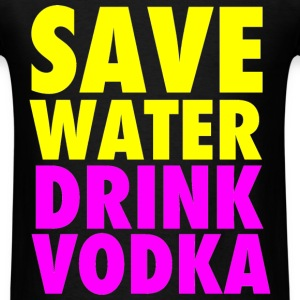 Save Water Drink Vodka Neon Party Design T-Shirts - Men's T-Shirt