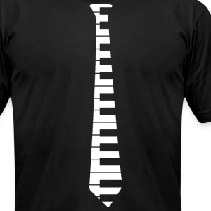 Piano Tie - Men's T-Shirt by American Apparel
