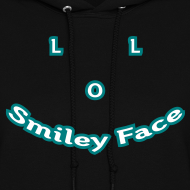Design ~ LOL Smiley Face – Womens Hoodie