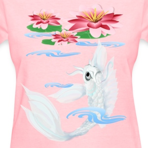 Silver Koi-Pink and Pink Lilies - Women's T-Shirt