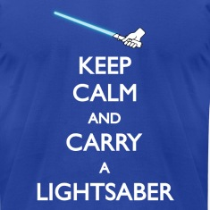 Keep Calm Blue Lightsaber