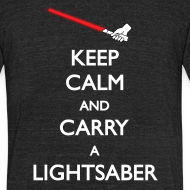 Design ~ Keep Calm Lightsaber Red Vintage