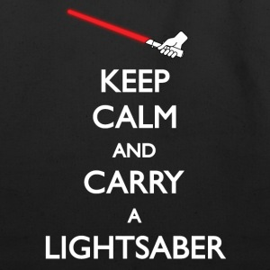 Keep Calm Lightsaber Tote Bag - Eco-Friendly Cotton Tote