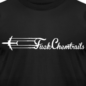 Fuck Chemtrails (White) - Men's - Men's T-Shirt by American Apparel