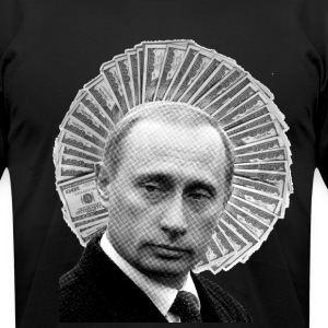 Vladimir Putin Saint of Money - Men's T-Shirt by American Apparel