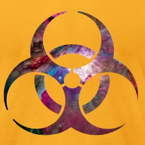 Toxic Biohazard warning signs Hardstyle Electro Motive T-Shirts - Men's T-Shirt by American Apparel