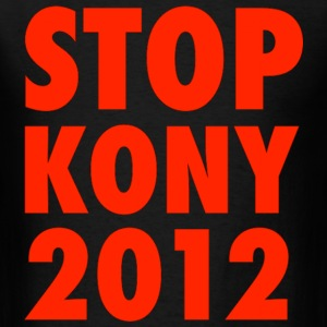 KONY 2012 STOP KONY UGANDA INVISIBLE CHILDREN HELP THE CAUSE - Men's T-Shirt