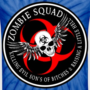 Zombie Squad 2 Ring Patch Revised T-Shirts - Unisex Tie Dye T-Shirt