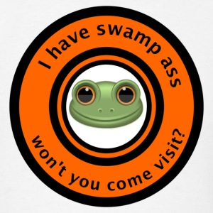 I have swamp ass won't you come visit frog shirt - Men's T-Shirt