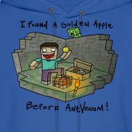 Design ~ Men's Hoodie: Steve's Golden Apple