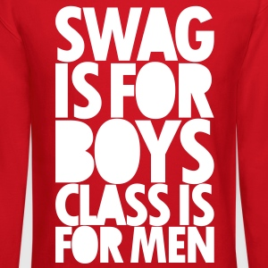 SWAG IS FOR BOYS Long Sleeve Shirts - Crewneck Sweatshirt
