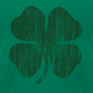 Grunge Green Clover T-Shirts - Men's T-Shirt by American Apparel